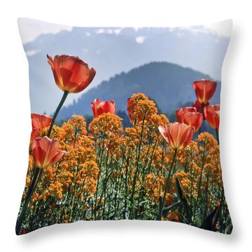 The Tulips In Bloom Throw Pillow