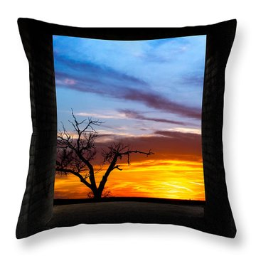 The Tunnel   Sunset1 Throw Pillow