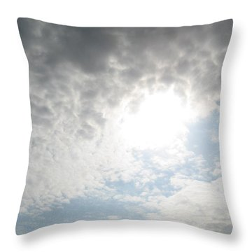 The Tunnel Of Light Throw Pillow