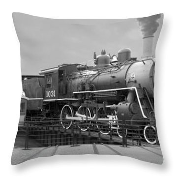 The Turntable And Roundhouse Throw Pillow by Mike McGlothlen