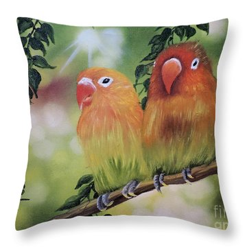 The Tweetest Love Throw Pillow