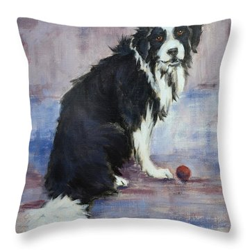 Throw Pillow featuring the painting The Twilight Years by Cynthia House