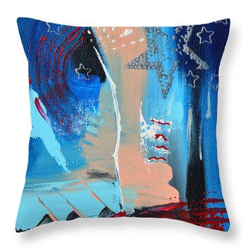The Twilight's Last Gleaming Throw Pillow by Donna Blackhall