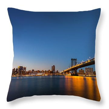 The Two Bridges Throw Pillow