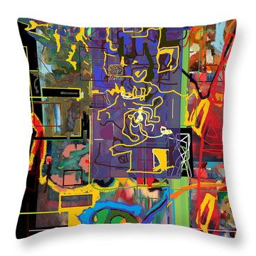 The Tzaddik Lives On Emunah 9c Throw Pillow by David Baruch Wolk