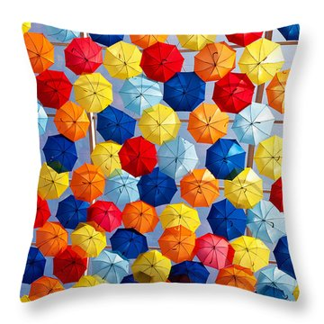 The Umbrella Sky Throw Pillow