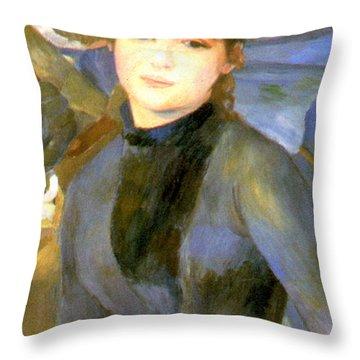 The Umbrellas Detail IIi Throw Pillow by Pierre Auguste Renoir