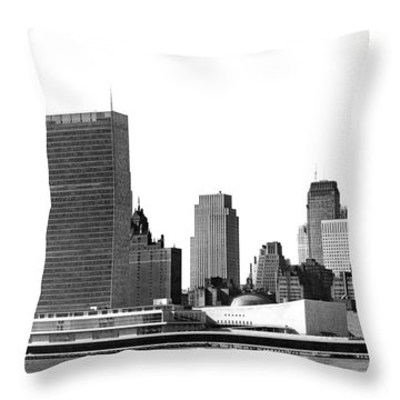 The Un And Chrysler Buildings Throw Pillow