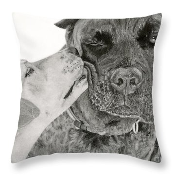 The Unconditional Love Of Dogs Throw Pillow