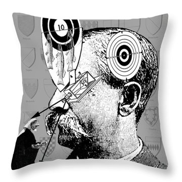 The Unconscious Target Throw Pillow