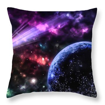 The Undiscovered Planet  Throw Pillow by Naomi Burgess