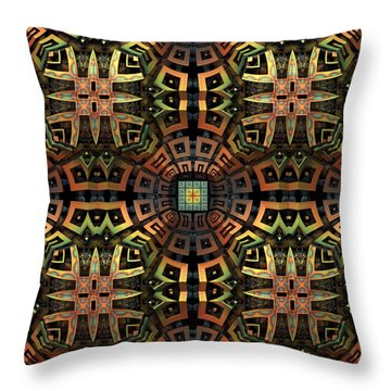 The Undiscovered Tribe Throw Pillow by Lyle Hatch