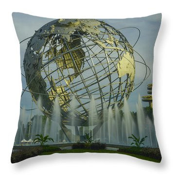 The Unisphere Throw Pillow by Theodore Jones