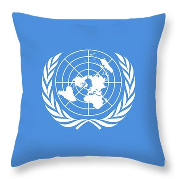 The United Nations Flag  Authentic Version Throw Pillow