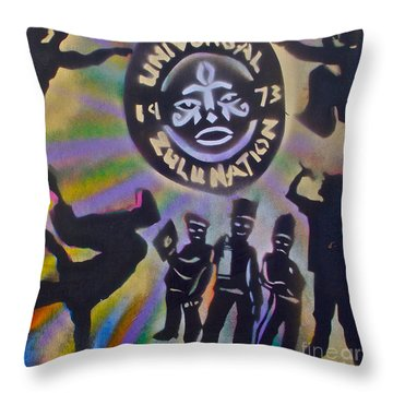 The Universal Zulu Nation Throw Pillow by Tony B Conscious