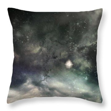 The Universe Throw Pillow by Cynthia Lassiter