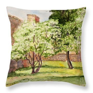 The University Of The South Campus Throw Pillow by Janet Felts