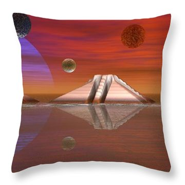 Throw Pillow featuring the digital art The Unknown by Jacqueline Lloyd