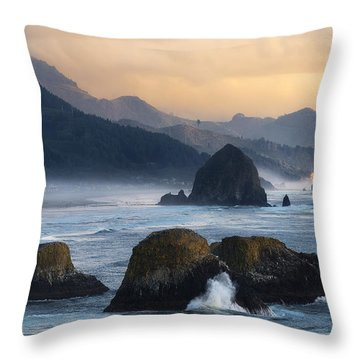 The Unpredictable North Coast Throw Pillow