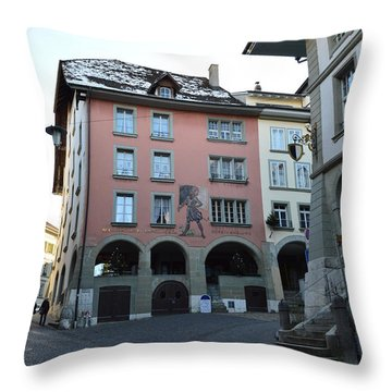 Throw Pillow featuring the photograph The Upper Town by Felicia Tica
