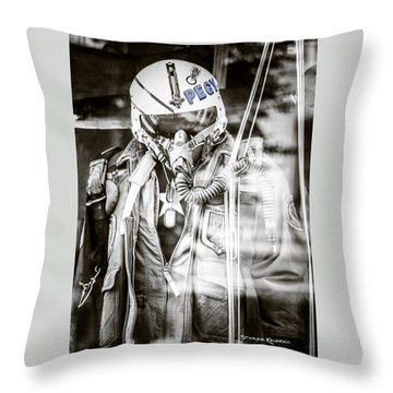 Throw Pillow featuring the photograph The U.s Airman by Stwayne Keubrick