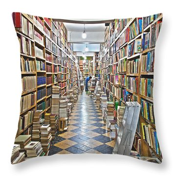 The Used Bookstore Throw Pillow
