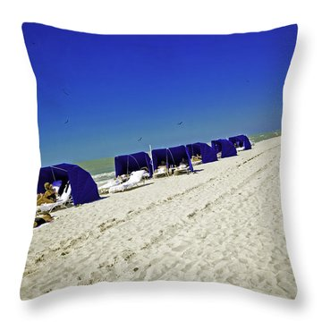 The Vacationers 2 Throw Pillow by Madeline Ellis