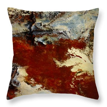 The Valley Throw Pillow by Jack Zulli