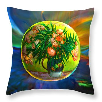 Throw Pillow featuring the painting The Van Gloughing Vase by Robin Moline