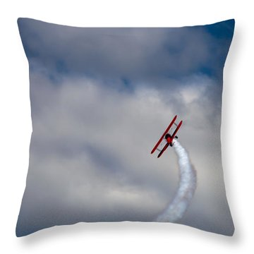 The Vapor Trail Throw Pillow