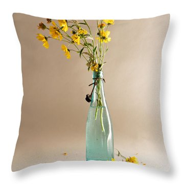 Throw Pillow featuring the photograph The Vase by Mary Lee Dereske