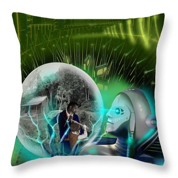 The Veneer Clause Throw Pillow by James Christopher Hill