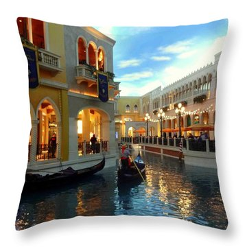 The Venetian Las Vegas Throw Pillow