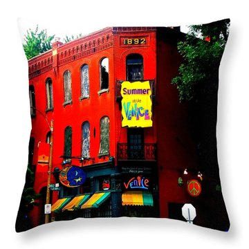 The Venice Cafe' Edited Throw Pillow