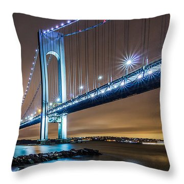 Throw Pillow featuring the photograph The Verrazano by Anthony Fields