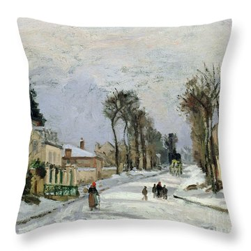 The Versailles Road At Louveciennes Throw Pillow