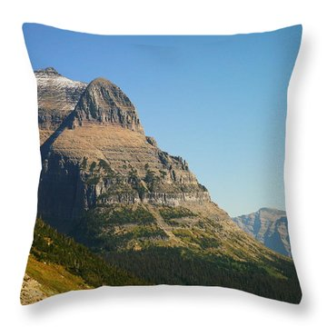 The Very First Snow In Montana In September Throw Pillow by Jeff Swan