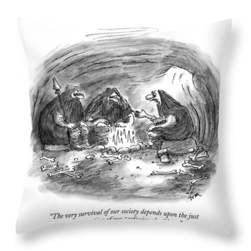The Very Survival Of Our Society Depends Throw Pillow