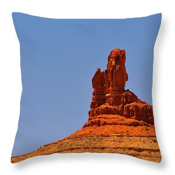 The Vibe Of Valley Of The Gods Utah Throw Pillow by Christine Till