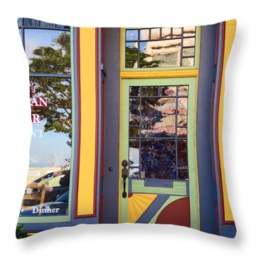 The Victorian Diner Throw Pillow