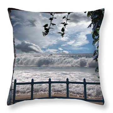 Throw Pillow featuring the photograph The View by Athala Carole Bruckner