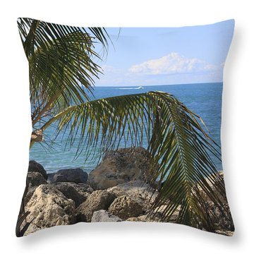 Key West Ocean View Throw Pillow