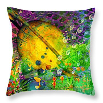 The View From A Moon Throw Pillow