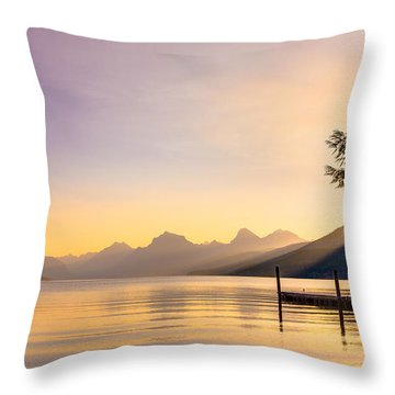 The View From Apgar Throw Pillow