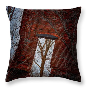 Throw Pillow featuring the photograph The View From Here by Beth Sawickie