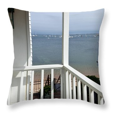The View From The Porch Throw Pillow