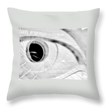 The View In The Eye Throw Pillow by Marcia L Jones