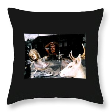 Throw Pillow featuring the photograph A Surreal View by Michael Hoard