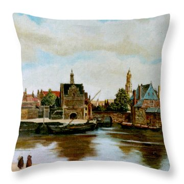 The View Of Delft Throw Pillow