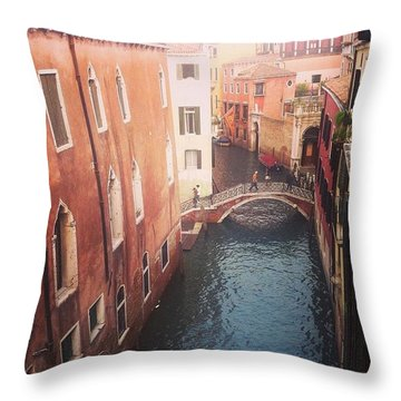 Venice Mornings  Throw Pillow